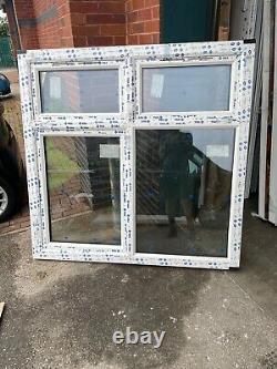 New Upvc Rosewood / White Casement Window 1570mm wide x 1540mm high