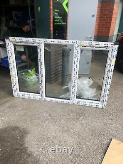 New Upvc Rosewood / White Casement Window 1810mm wide x 1165mm high