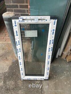 New Upvc Rosewood / White Casement Window 450mm wide x 1000mm high