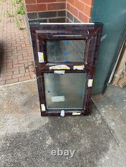 New Upvc Rosewood / White Casement Window 570mm wide x 1015mm high