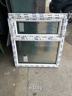 New Upvc Rosewood / White Casement Window 905mm wide x 1010mm high