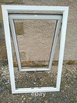 New White UPVC Top Hung Full Opening Window with Toughened Glass 2 available
