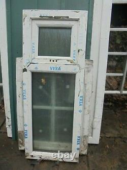 New White UPVC Window 454 x 1180 A Rated