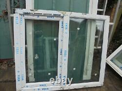 New White UPVC and Rosewood Window 1190 x 1005 A-Rated