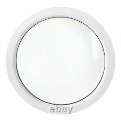 Oeil de boeuf fixe blanc 50 55 60 65 70 80 90 100 110 120 cm fenêtre ronde PVC