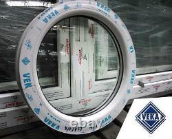 PVC Rundfenster VEKA Festelement Aussendurchmesser 500 mm 900 mm