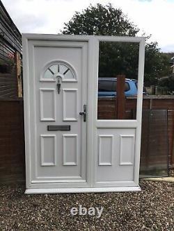 Reclaimed Upvc Door & Side Panel W1575mm X 2085mm Inc30mm Cill