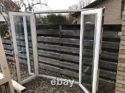 Reclaimed Upvc Double Door & Side Panels W2100mm X H2050 Inc Cill
