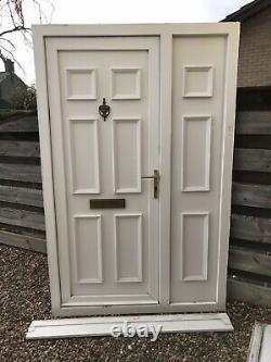 Reclaimed Upvc Front Door & Side Panel W1330mm X H2090mm Inc Cill