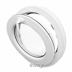 Round Hopper Window TILT White uPVC 50 55 60 65 70 80 90 100 cm Circular