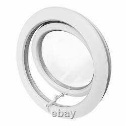 Round Top Hinged Window Diameter 65 cm 70 cm 75 cm 80 cm White uPVC