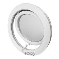 Round Top Hinged Window with Frosted Glass 650 700 750 800 mm White uPVC