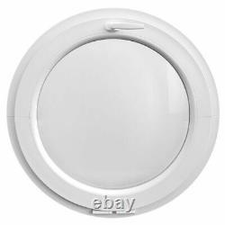 Round Window TILT White uPVC Frosted Glass 500 600 650 700 750 800 mm