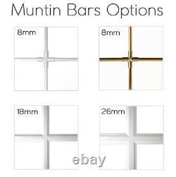 Round Window TURN White uPVC Glazing Bars Muntins 550 600 650 700 750 800 900