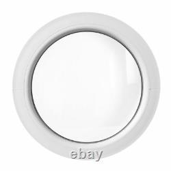 Round circular window FIXED white 500 550 600 650 700 750 800 900 1000 mm uPVC