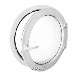 Round uPVC Window TURN White 55cm 60cm 70cm 80cm 90cm 100cm porthole