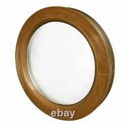 Round window FIXED Golden Oak 500 550 600 650 700 800 900 mm uPVC Coloured