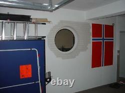 Round window Hard 80cm 3x Glass SATINATO