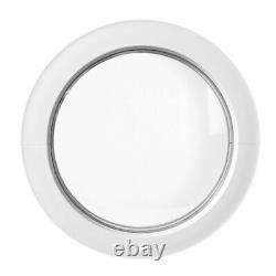 Round window fixed uPVC white 50 55 60 65 70 75 80 90 cm double glazing