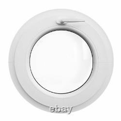 Rundfenster Kipp Weiß VEKA Ausmaß 500 550 mm 2-fach oder 3-fach Verglasung