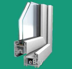 Stulp Dreh-Links Knob Kipp-Rechts, PVC Window, Veka 70 Ad, White, Glass 1,0