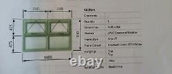 UPVC DGU Window Chartwell Green Cross-bar 2 top openers monkey tail latches
