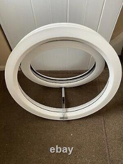 UPVC ROUND OPENING CIRCLE PORTHOLE 600mm WHITE