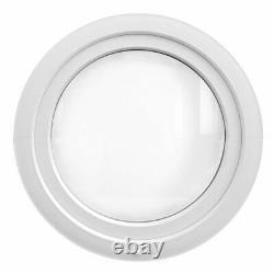 UPVC Round Window TURN 100 cm 110 cm 120 cm Circular White Casement Bull's Eye