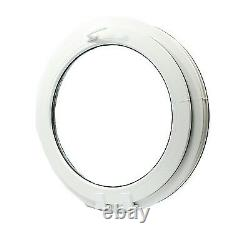 UPVC -Window Round arched circular double glazed VEKA handle on top- tilt