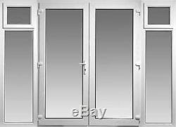 Upvc French Doors Opening Side Panels 2400mm X 2100mm With Glass Free Delivery