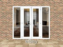Upvc French Doors With Side Panels 2100mm X 2100mm With Glass. Free Delivery