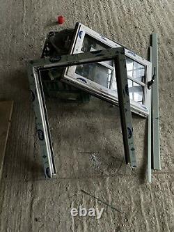 Upvc Veka Chartwell Green Window With Toughened Glass & Astragal Bars