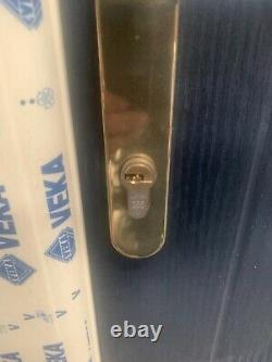Upvc composite door brand new dark blue with cream frame 1010 W x 2100 h