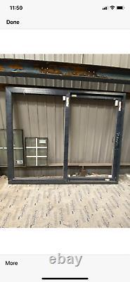 Upvc sliding patio doors Anthracite grey/ white new fully glazed 2515 x 2050
