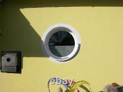 VEKA Rundfenster Tannengrün foliert