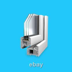 Veka Fenêtre en Plastique, PVC, Fenêtre, Plastique 3 Compartiments Vitré