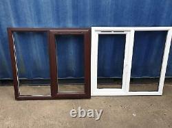 Veka uPVC rosewood/white w1185 x h1100 double glassing casement windows