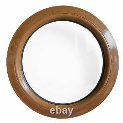 Ventana redonda fija de PVC color madera 500 550 600 650 700 800 900 mm