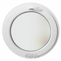Ventana redonda oscilante de PVC blanco vetro opaco 500 550 600 650 700 800 900
