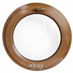 Ventana redonda oscilante de PVC color madera 500 550 600 650 700 800 900 mm