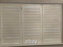 White PVCu Double glazed window with White Plantation Shutter 247 cms x 96 cms