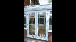 White Upvc French / Patio Doors 1300mm X 2100mm With Glass Free Delivery