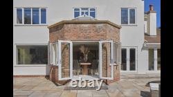 White Upvc French Patio Doors 1400mm X 2100mm With Glass Any Size Free Delivery