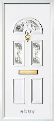 White Upvc Front Doors Any Size Available From 850mm Width Free Delivery