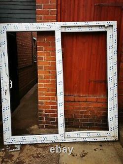 White upvc sliding patio doors (no glass)
